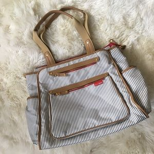 Skip hop grand central diaper bag In French stripe